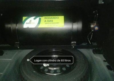 Logan con cilindro de 65 litros