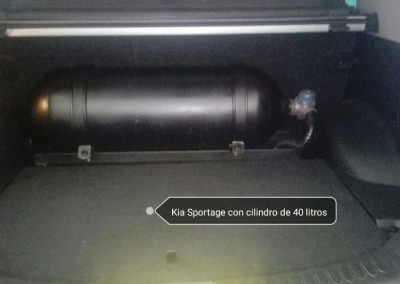 Kia Sportage con cilindro de 40 litros