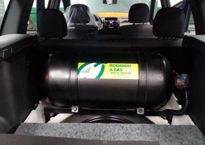 Duster con cilindro de 65 litros, para un recorrido similar a 4 galones